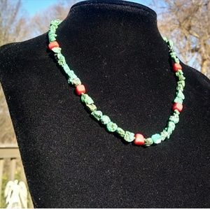 Vintage 925-SS SW Genuine Coral & Turquoise Nugget